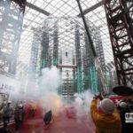 台北市大巨蛋上樑 趙藤雄豪語2016完工