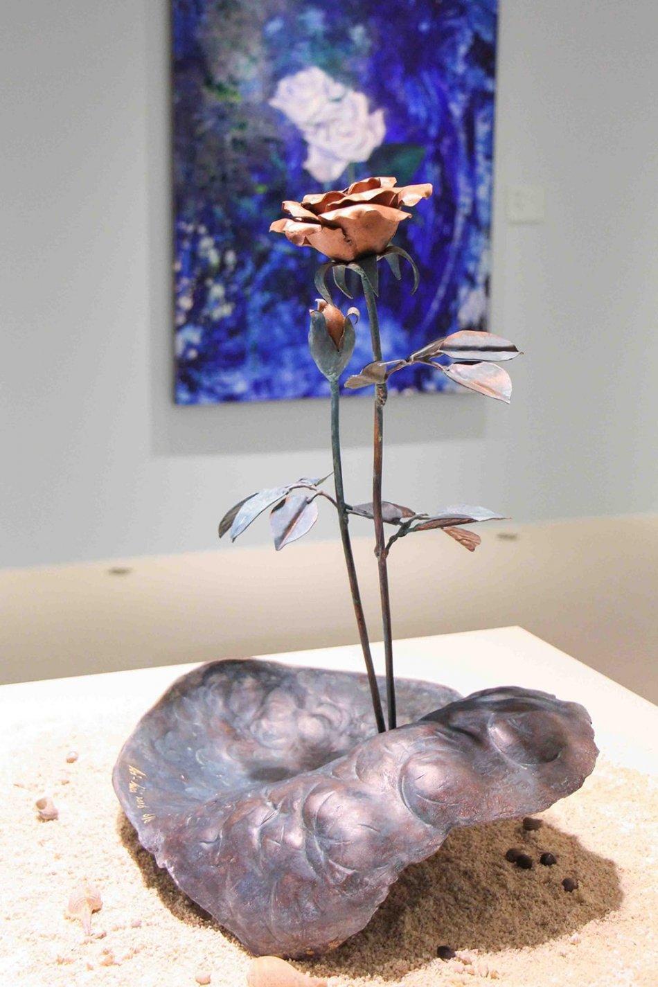 台北油畫展-雕塑花
