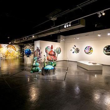 遠雄展覽《前行意志-當代藝術展》展場一隅。