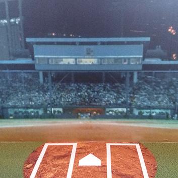 遠雄活動-展覽現場重現已拆除之台北棒球場意象,供觀眾在此進行情境拍照。
