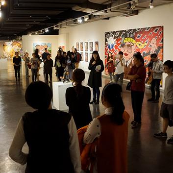 汐止活動-專家導覽活動由當代藝術策展人徐婉禎為現場觀眾進行解說。
